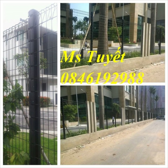 Hàng rào lưới thép mạ kẽm, lưới thép điện phân, sản xuất và lắp đặt12