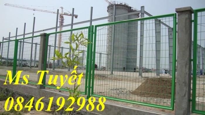 Hàng rào lưới thép mạ kẽm, lưới thép điện phân, sản xuất và lắp đặt7