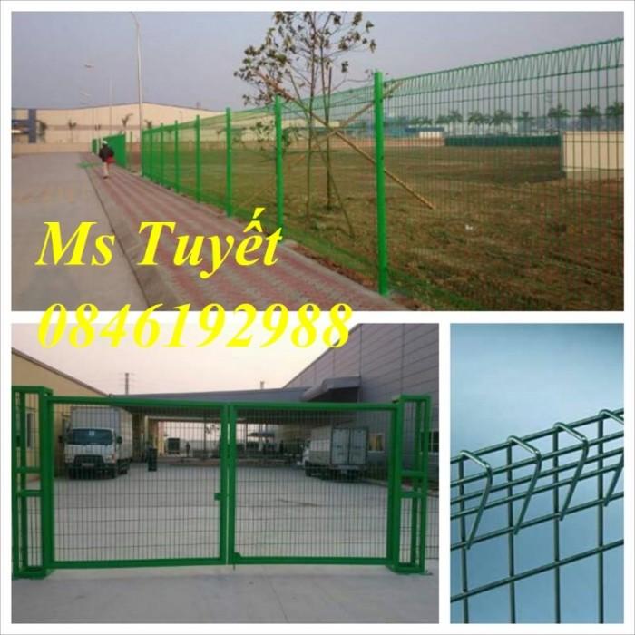 Hàng rào lưới thép mạ kẽm, lưới thép điện phân, sản xuất và lắp đặt20