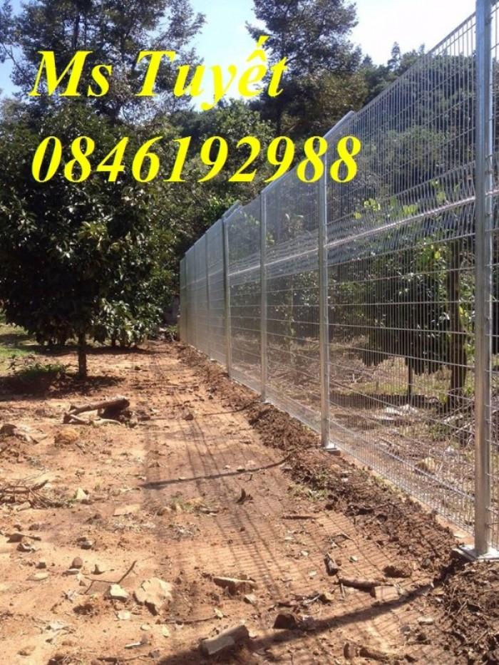 Hàng rào lưới thép mạ kẽm, lưới thép điện phân, sản xuất và lắp đặt24