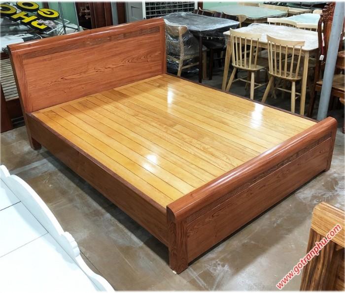 Giường 1m6 gỗ hương đá kẻ chỉ dát phản1