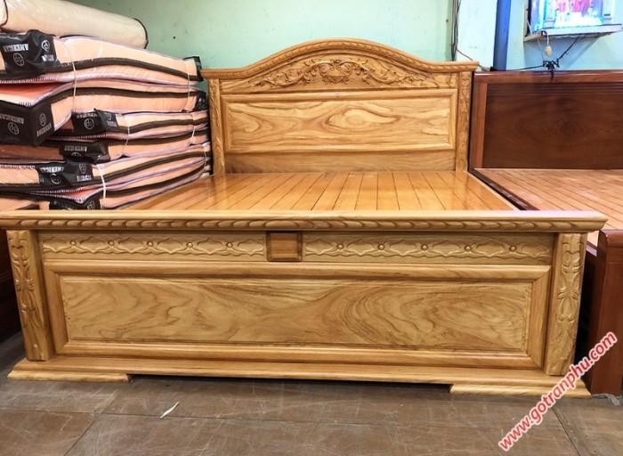 Giường đẹp gỗ gõ đỏ dát giường phản 1m8 x 2m1