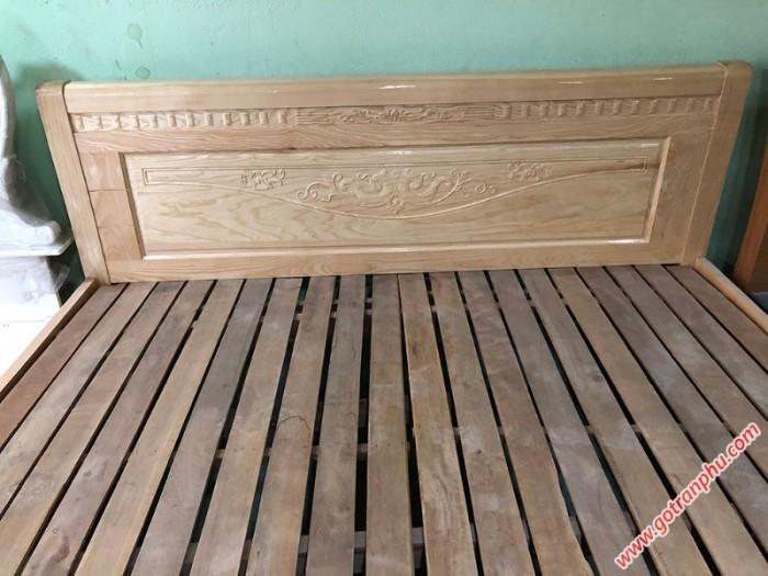 Giường ngủ gỗ giá rẻ gỗ sồi Nga 1m8 x 2m1