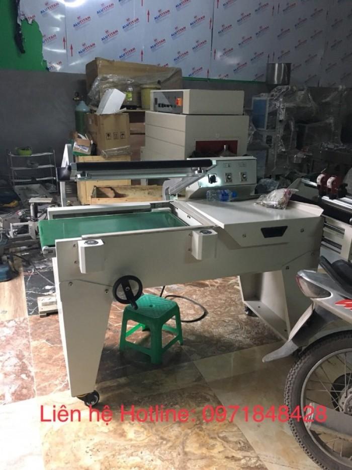 Máy cắt dán màng co tự động, máy cắt dán màng co, máy đóng gói màng co hộp2