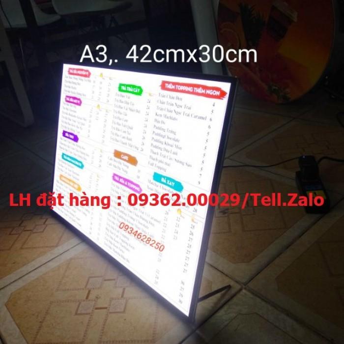 Biển menu có đèn led để bàn –Gia công hộp đèn siêu mỏng giá rẻ6