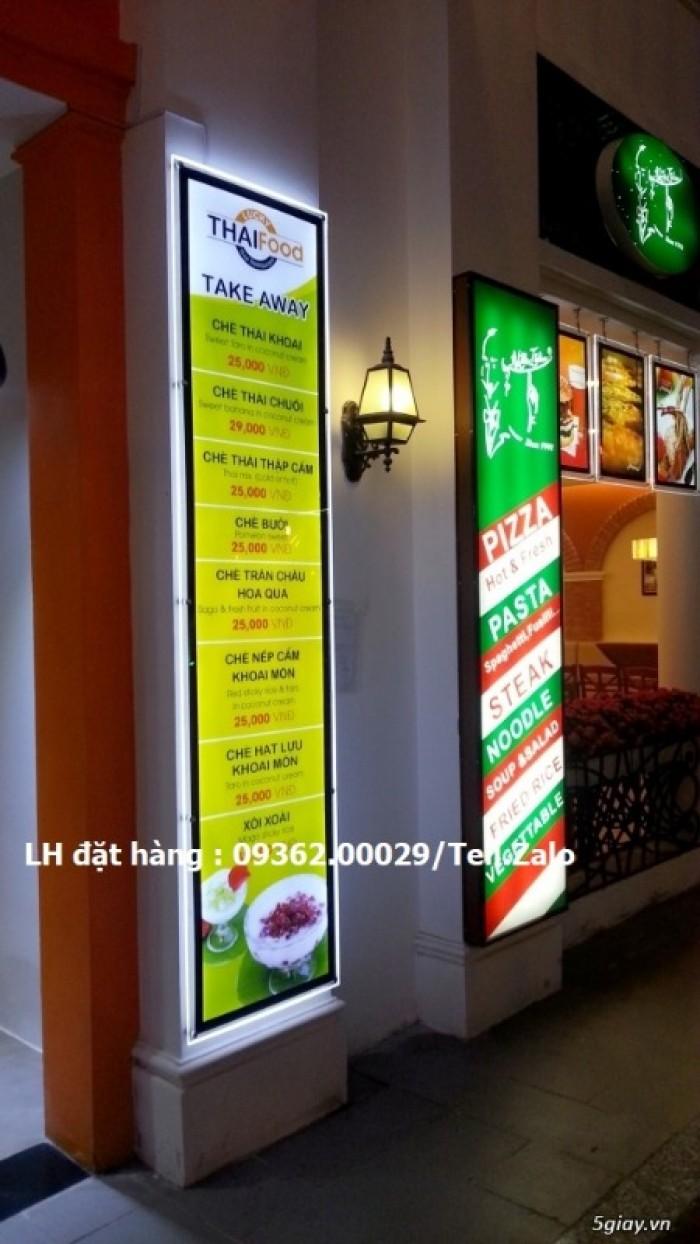 Biển menu có đèn led để bàn –Gia công hộp đèn siêu mỏng giá rẻ18