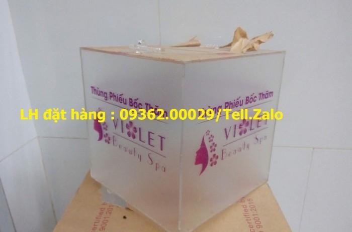 Chuyên cung cấp các loại hòm phiếu mica, thùng bốc thăm trúng thưởng, thùng t0