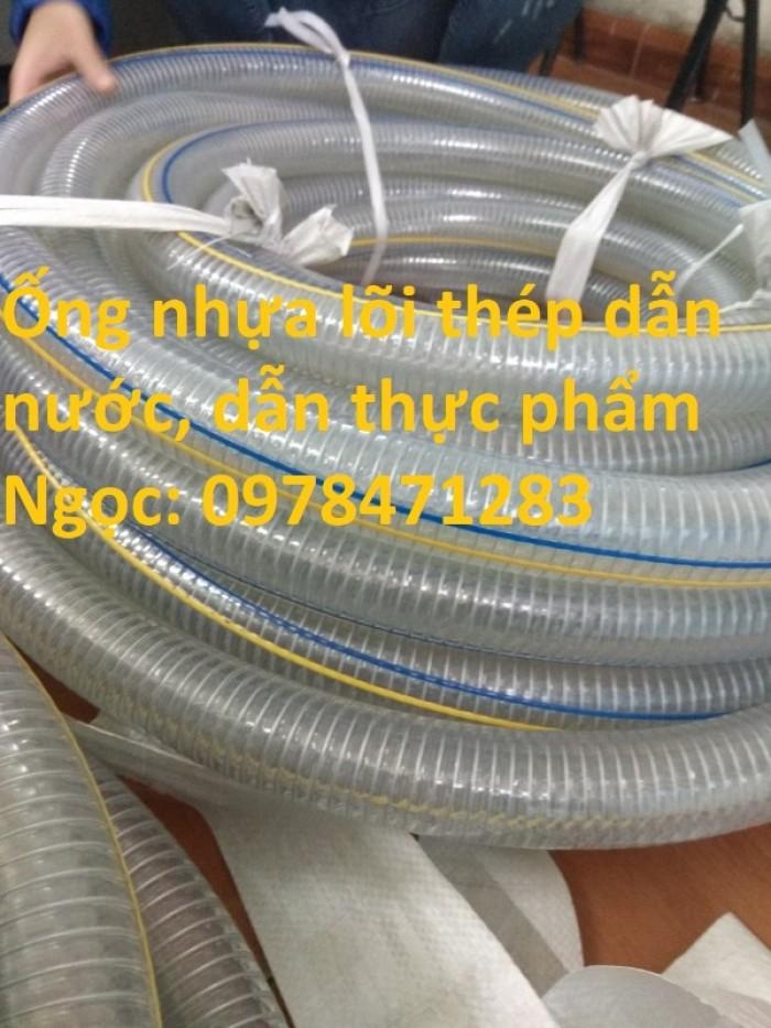 Ống nhựa mềm lõi thép dẫn nước, thực phẩm, xăng dầu, hóa chất D50, D60, D76.1