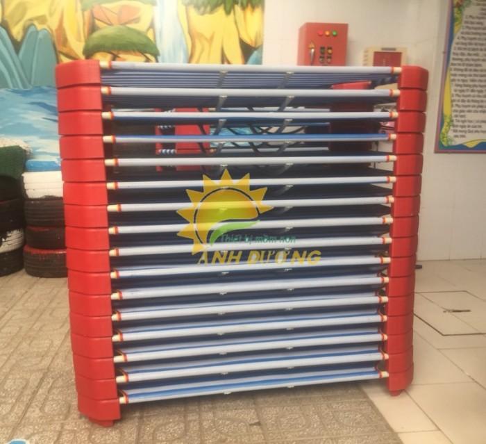 Cung cấp giường ngủ lưới mầm non giá rẻ, uy tín, chất lượng nhất8