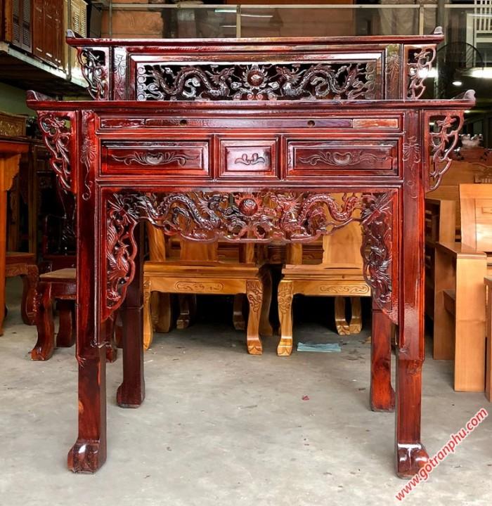 Bàn thờ đẹp 2 tầng gỗ muồng gỗ tự nhiên0
