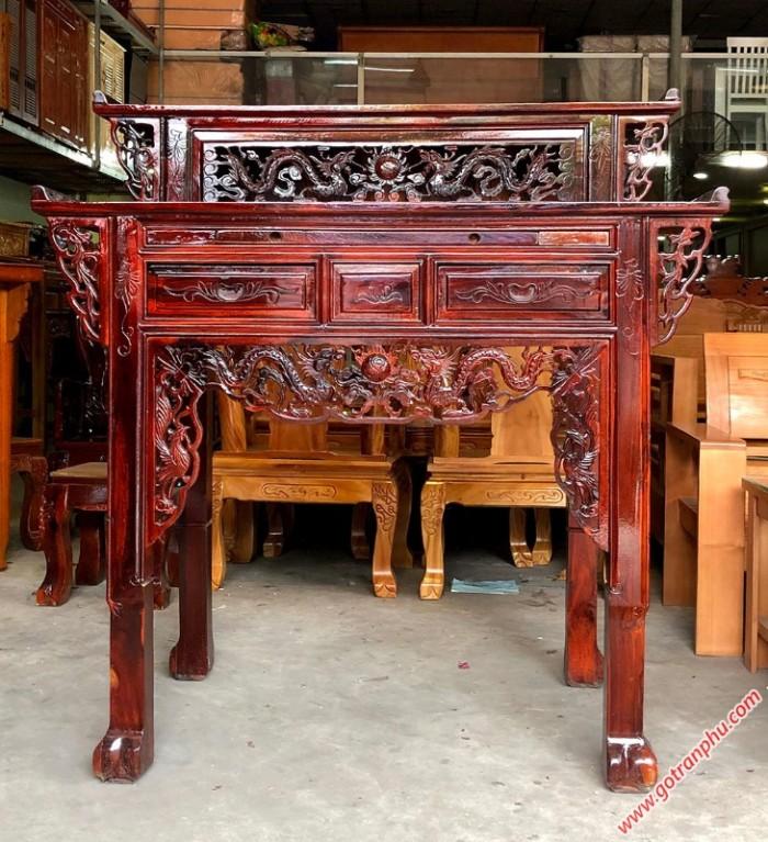 Bàn thờ đẹp 2 tầng gỗ muồng gỗ tự nhiên1