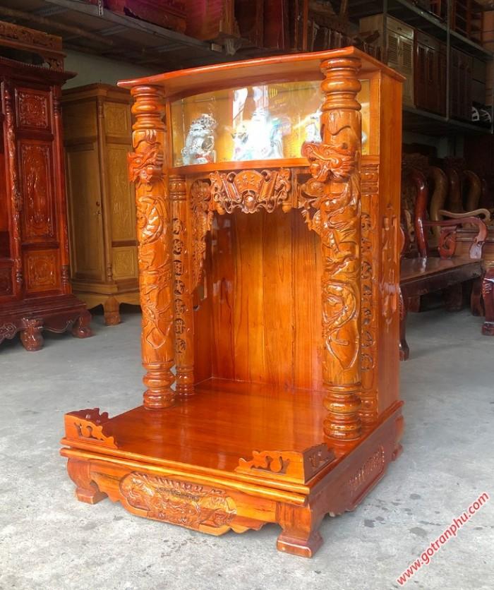 Bàn thờ ông địa đẹp gỗ xoan đào1