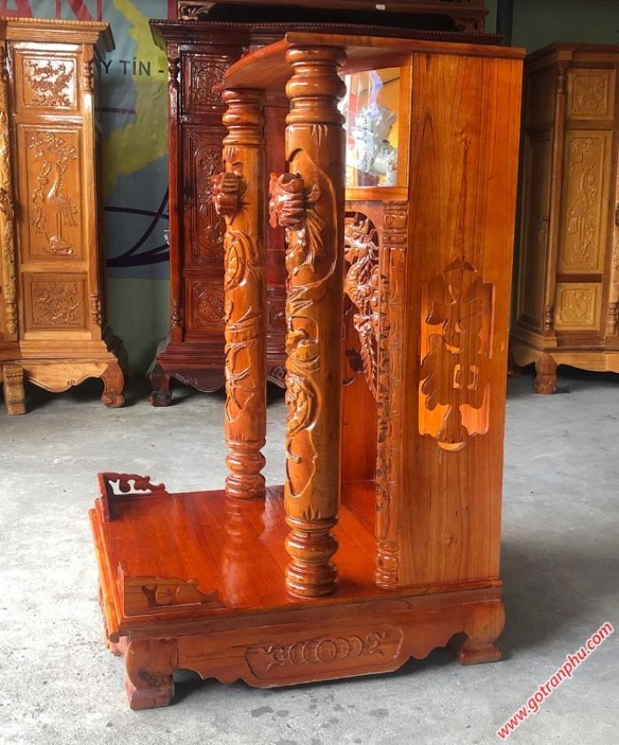 Bàn thờ ông địa đẹp gỗ xoan đào4
