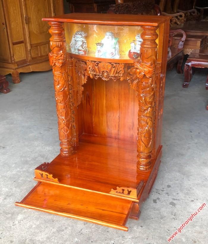 Bàn thờ ông địa đẹp gỗ xoan đào2