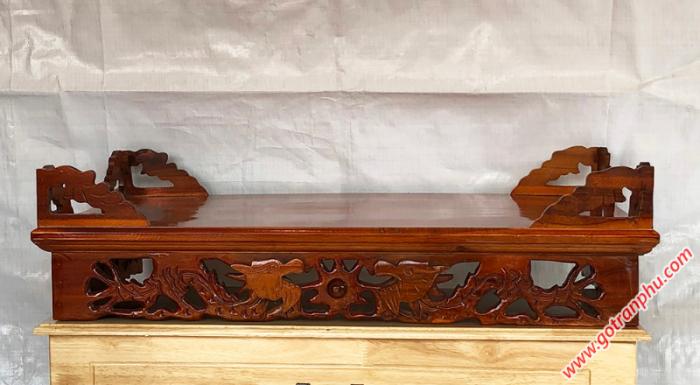 Bàn thờ treo tường gỗ xoan đào ngang 80cm3