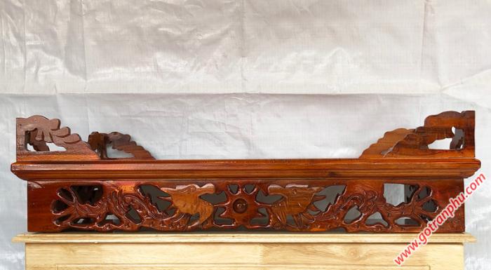 Bàn thờ treo tường gỗ xoan đào ngang 80cm2