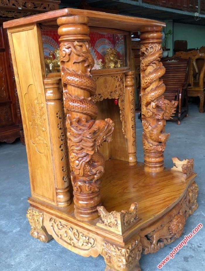 Tủ thờ gỗ gõ đỏ lào3