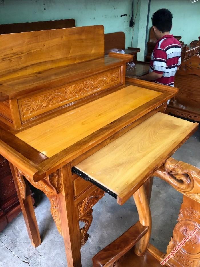 Tủ thờ đẹp  2 tầng gỗ căm gõ gỗ tự nhiên2