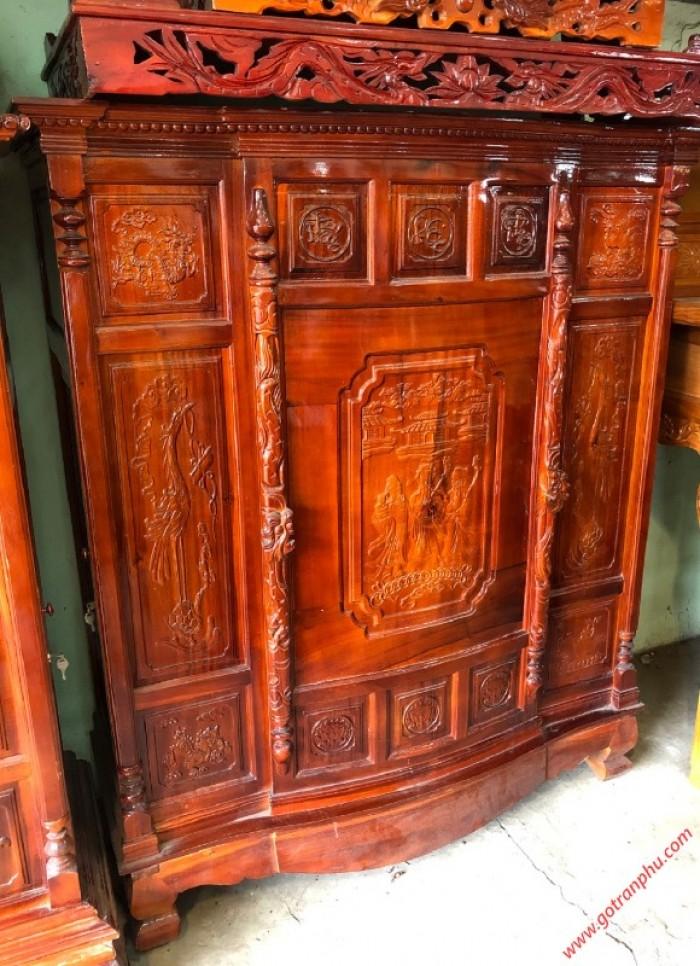 Tủ thờ đẹp gỗ xoan đào 4 chân1