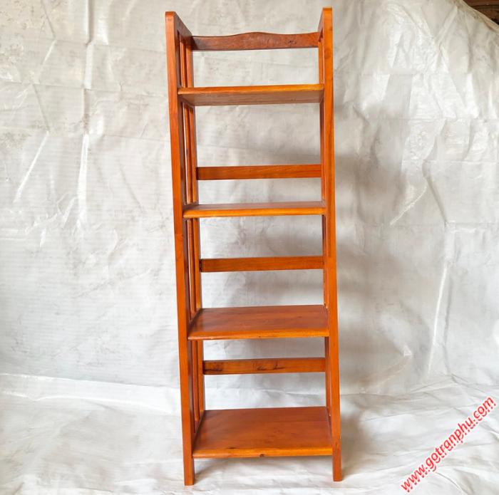 Kệ sách đứng gỗ cao su 4 tầng màu nâu ngang 40cm1
