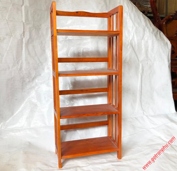 Kệ sách đứng gỗ cao su 4 tầng màu nâu ngang 50cm1