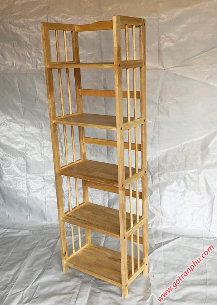 Kệ gỗ 5 tầng đựng sách màu gỗ tự nhiên ngang 50cm3