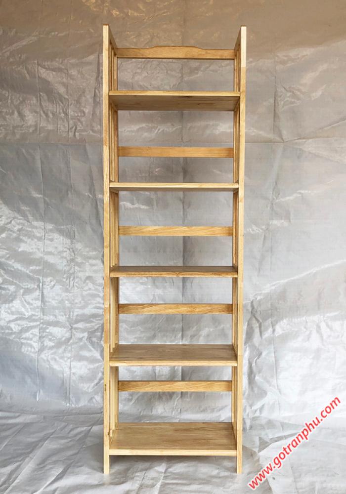 Kệ gỗ 5 tầng đựng sách màu gỗ tự nhiên ngang 50cm2