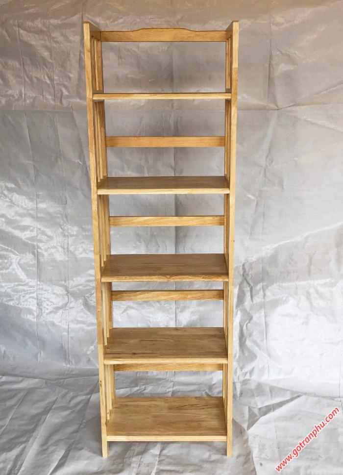 Kệ gỗ 5 tầng đựng sách màu gỗ tự nhiên ngang 50cm1