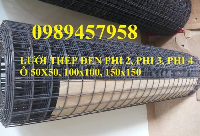 Lưới thép đen D3 ô 50x50, 100x100, Lưới mạ kẽm hàng rào D4 200x2007