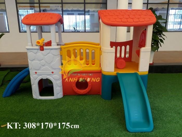 Các bộ liên hoàn cầu trượt trẻ em cho trường mầm non, khu vui chơi, TTTM1