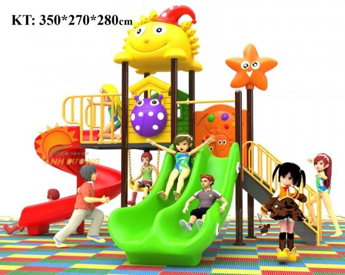 Các bộ liên hoàn cầu trượt trẻ em cho trường mầm non, khu vui chơi, TTTM2