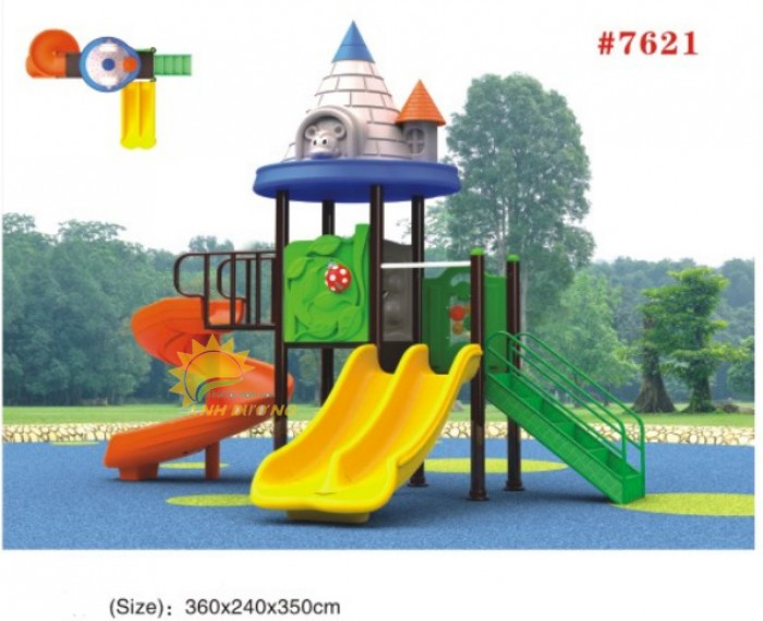 Các bộ liên hoàn cầu trượt trẻ em cho trường mầm non, khu vui chơi, TTTM4