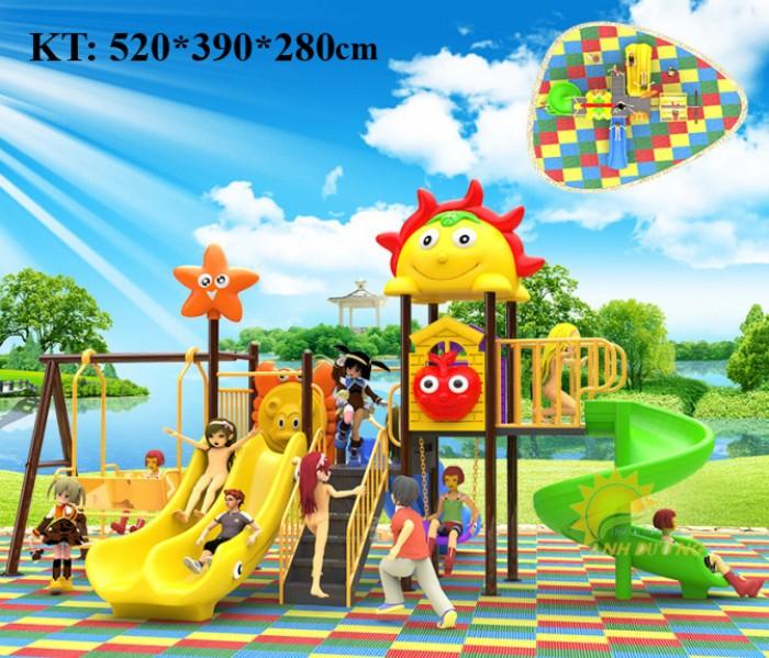 Các bộ liên hoàn cầu trượt trẻ em cho trường mầm non, khu vui chơi, TTTM5
