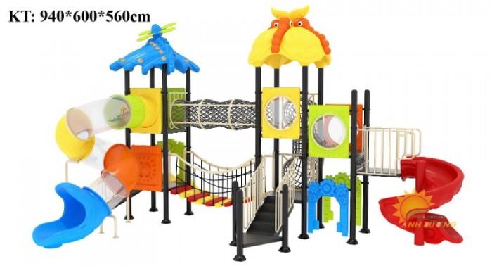 Các bộ liên hoàn cầu trượt trẻ em cho trường mầm non, khu vui chơi, TTTM6