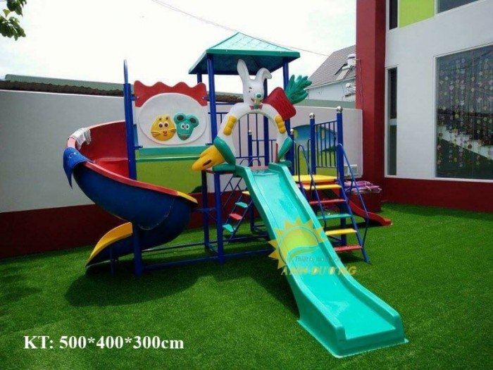 Các bộ liên hoàn cầu trượt trẻ em cho trường mầm non, khu vui chơi, TTTM7