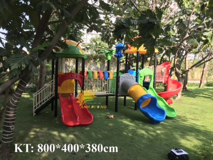 Các bộ liên hoàn cầu trượt trẻ em cho trường mầm non, khu vui chơi, TTTM8