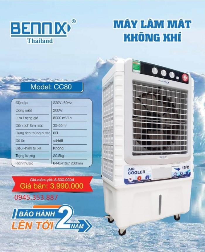 Quạt điều hoà không khí Bennix CC-80 Thái Lan công suất lớn 200w chính hãng0