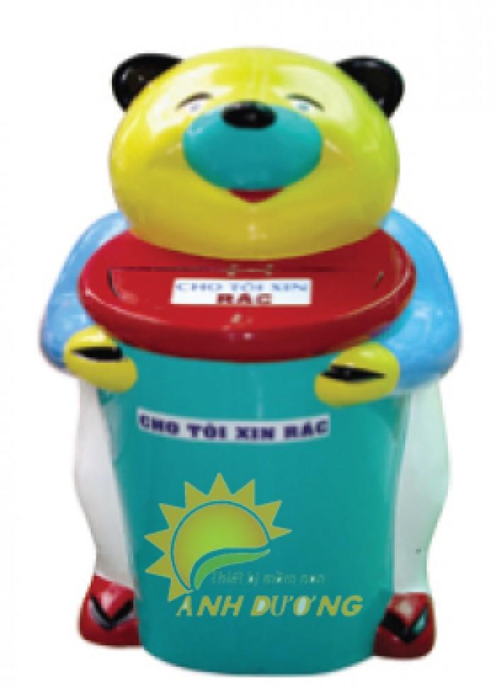Chuyên cung cấp thùng rác hình con thú cho công viên, trường mầm non, TTTM1