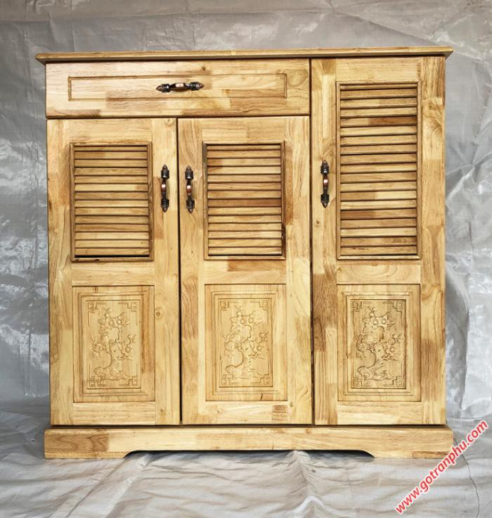 Tủ dép gỗ cao su 3 cánh 1 ngăn kéo1
