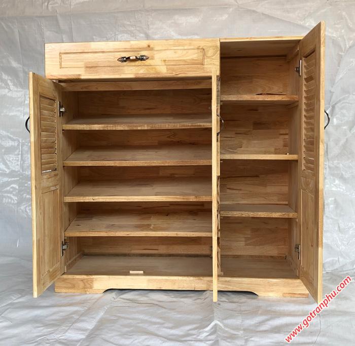 Tủ dép gỗ cao su 3 cánh 1 ngăn kéo3