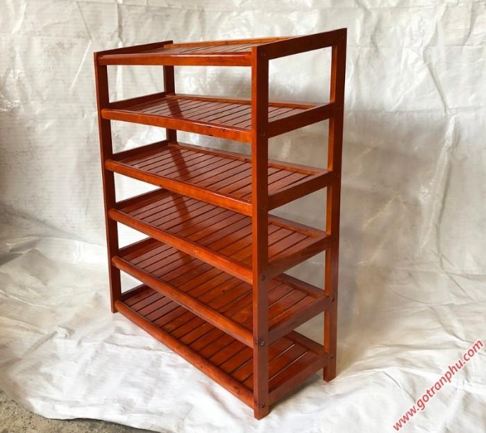 Kệ dép gỗ 6 tầng màu nâu2