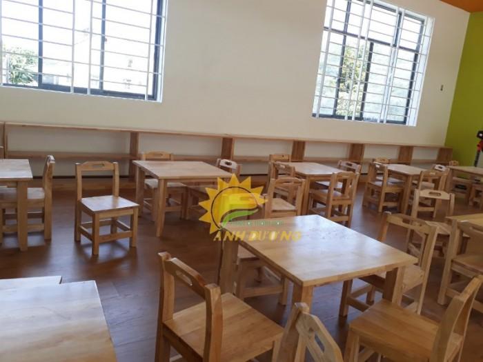 Cung cấp bàn và ghế gỗ mầm non giá rẻ, uy tín, chất lượng nhất2