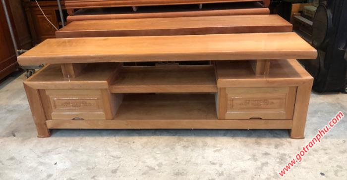 Kệ tivi đơn giản gỗ đinh hương 1m81