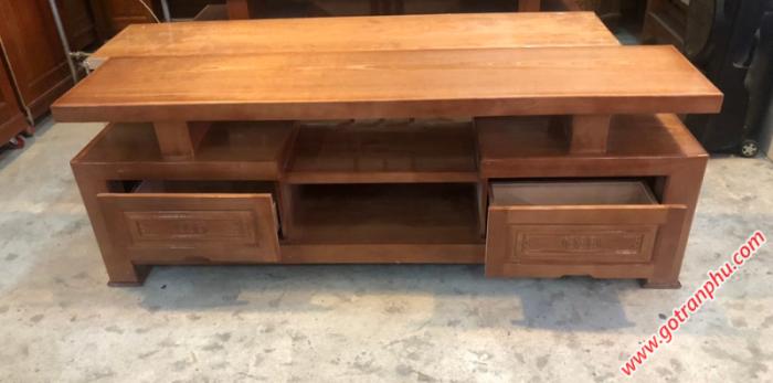 Kệ tivi giá rẻ gỗ xoan đào 1m81