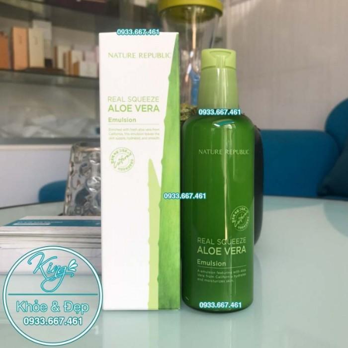 Sữa Dưỡng Nature Republic Real Squeeze Aloe Vera Emulsion0