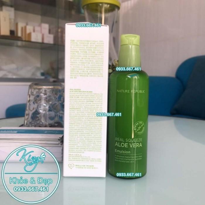 Sữa Dưỡng Nature Republic Real Squeeze Aloe Vera Emulsion1