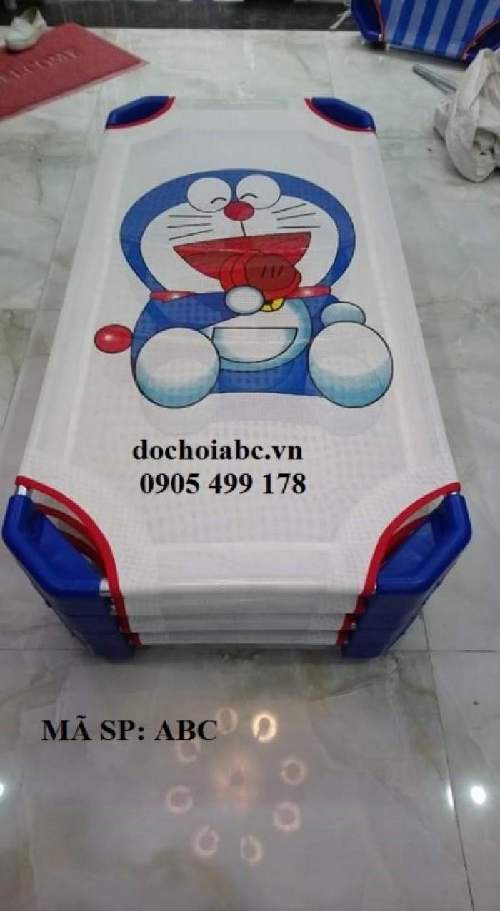 giường lưới mầm non hình doremon5