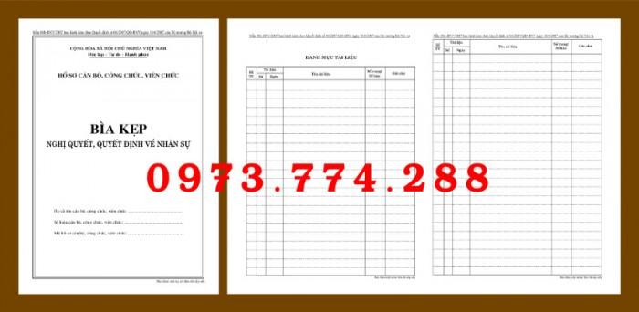 Bìa kẹp nhận xét, đánh giá, đơn thư (BNV) ban hành6