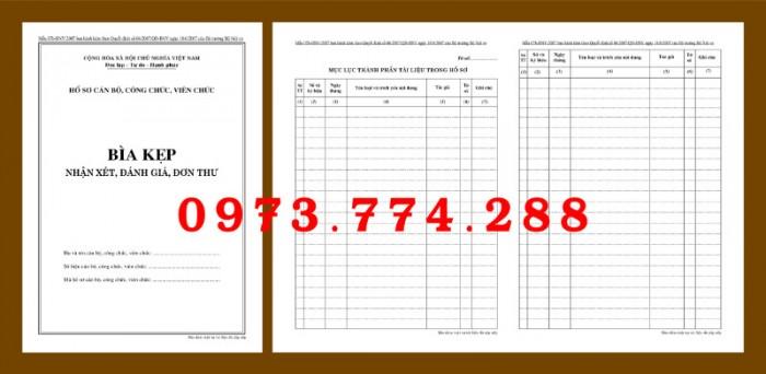 Bìa kẹp nhận xét, đánh giá, đơn thư (BNV) ban hành7