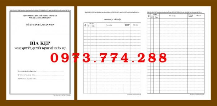 Bìa kẹp nhận xét, đánh giá, đơn thư (BNV) ban hành12